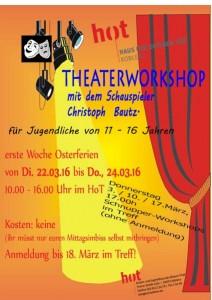 Wer hat Lust Theater zu spielen? Theaterworkshop für 11-16jährige in der ersten Ferienwoche