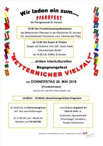 Plakat Metternicher Vielfalt 2016