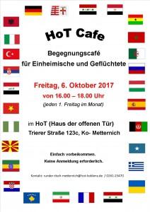 Plakat HoT Cafe Oktober 2017