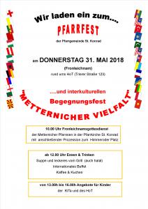 Plakat Metternicher Vielfalt 2018